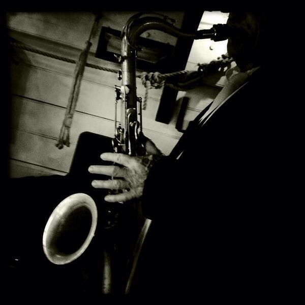Saxophone en bateau